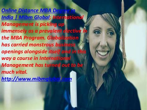 Distance Mba From Foreign In India by Distance Mba Degree In India In The Mba Program