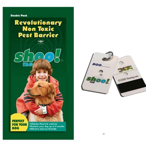 human shoo on dogs shoo tag flea tick repellent pack naturalpetwarehouse