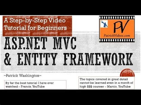tutorial asp net mvc entity framework asp net mvc tutorial step by step youtube