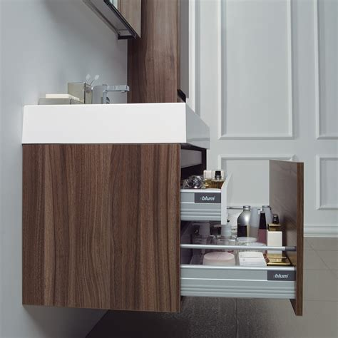 Wall Hung Bathroom Vanity Units The Bagno Resin Vanity Unit Walnut Finish