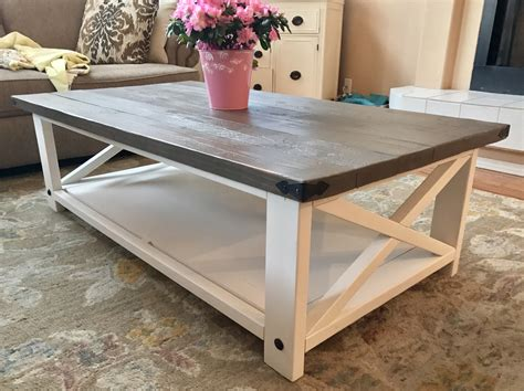 white larger rustic x coffee table diy projects