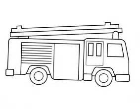 Truck template for kids fire truck coloring pages