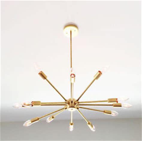 brushed brass light fixtures 12 light mid century modern brass chandelier light fixture