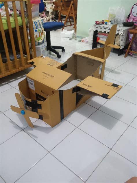 cara membuat pesawat terbang mainan dari kardus membuat pesawat kardus arif hidayat