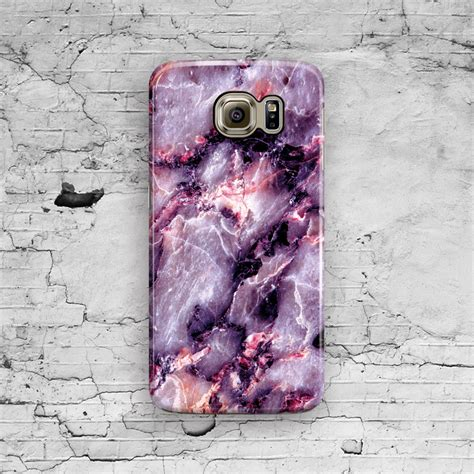 Marble For Samsung S7 Edge purple marble samsung galaxy s7 galaxy s6 pink