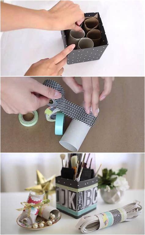 toilet paper roll desk organizer creative ideas diy desk organizer from toilet paper rolls