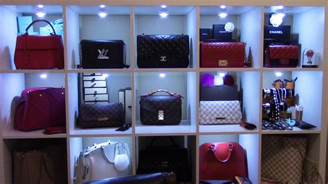 Purse Store how and where i store my handbags my space tour