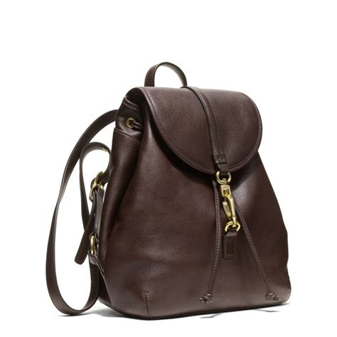 Coach Legacy Leather coach studio legacy backpack in leather in black silver black lyst