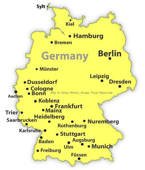 cities in germany map of germany showing cities europe 2015 hints tips