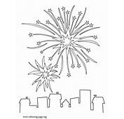 New Year  Years Fireworks Coloring Page