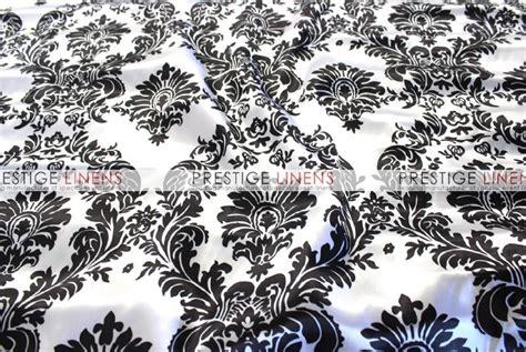 damask table linens damask print charmeuse table linen white black