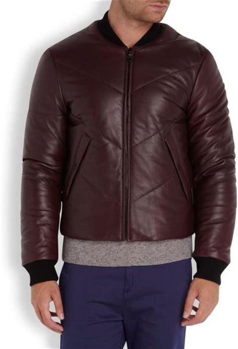 Dijamin Blazer Kenzo Maroon Black kenzo quilted leather jacket in purple for burgundy lyst