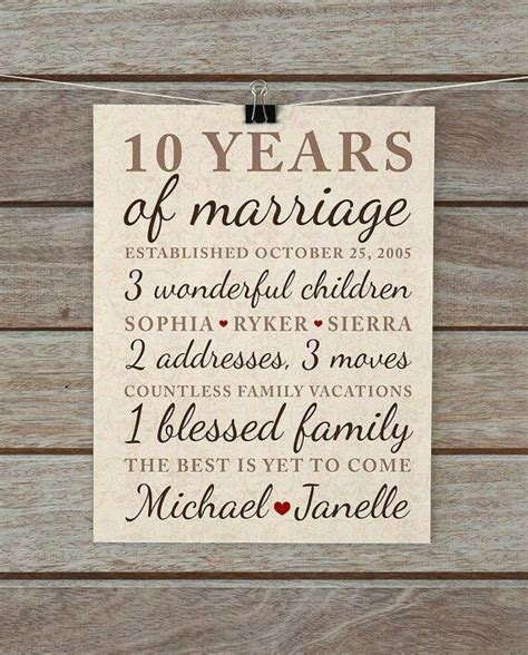 10th Wedding Anniversary Gift Ideas by 25 Unique 10th Anniversary Gifts Ideas On