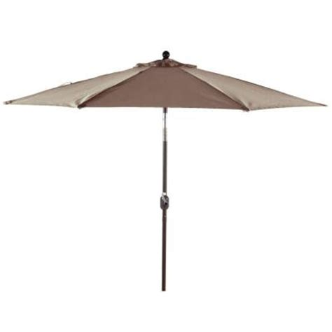 Home Depot Patio Umbrellas Flexx Market Umbrellas 9 Ft Wind Protected Patio Umbrella