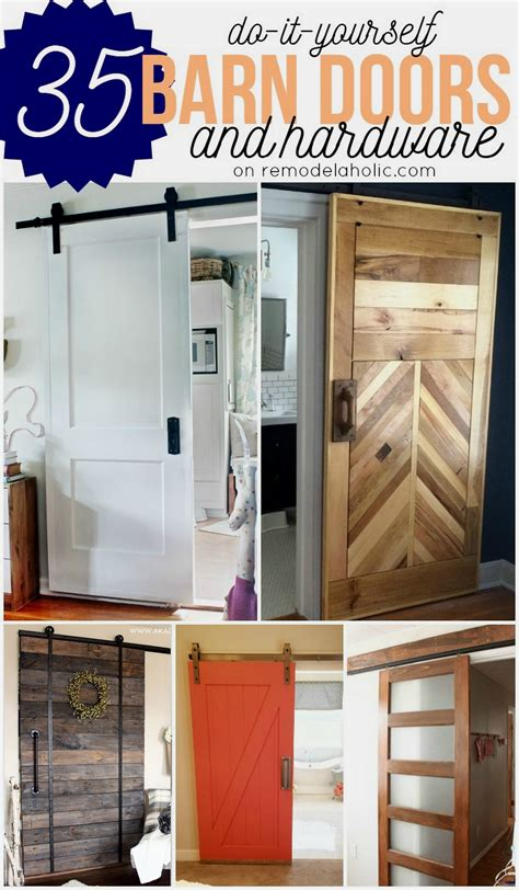 How To Make A Rolling Barn Door Remodelaholic 35 Diy Barn Doors Rolling Door Hardware Ideas