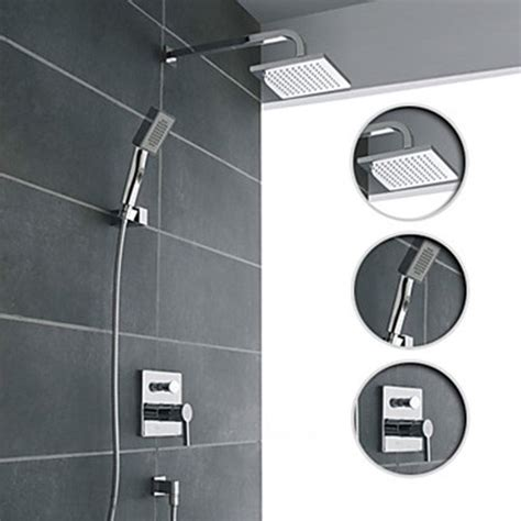 Bathroom Shower Fixtures Wall Mount Contemporary Chrome Shower Faucet Set Contemporary Bathroom Faucets And