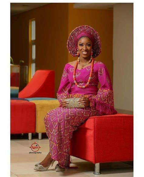 peach navy blue nigerian unique aso oke combinations for 2017 weddingplus nigeria