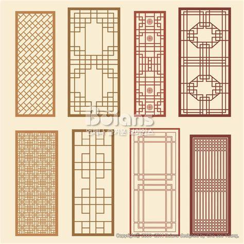 pattern window frame 한국의 전통 창틀 무늬문양 세트 한국 전통문양 패턴디자인 bptd020221 korean old