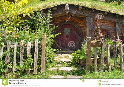 hobbit cottage editorial stock photo image  zealand