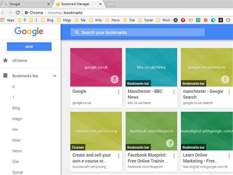 google chrome s new bookmark manager offers nothing new get a better bookmarks manager for chrome and add a menu