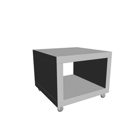 Ikea Lack Beistelltisch Mit Rollen by Lack Beistelltisch Mit Rollen Wei 223 Einrichten Planen In 3d
