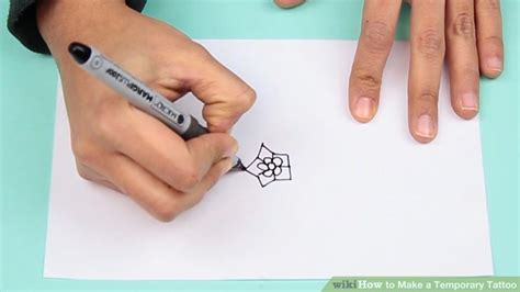 how to put on a temporary tattoo 4 ways to make a temporary wikihow