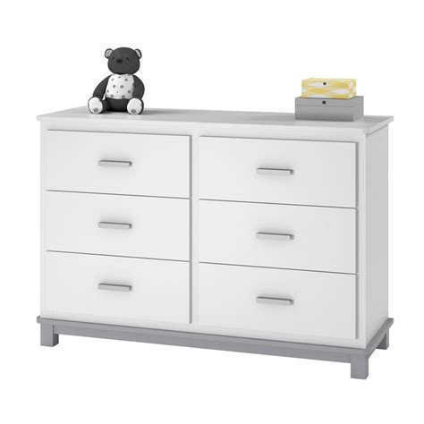 Grey Dresser Changing Table 6 Drawer Dresser Changing Table In White And Gray 5925321com