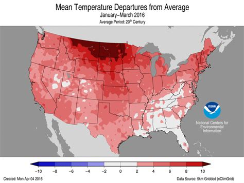 us weather map march 2016 summary information national centers for environmental