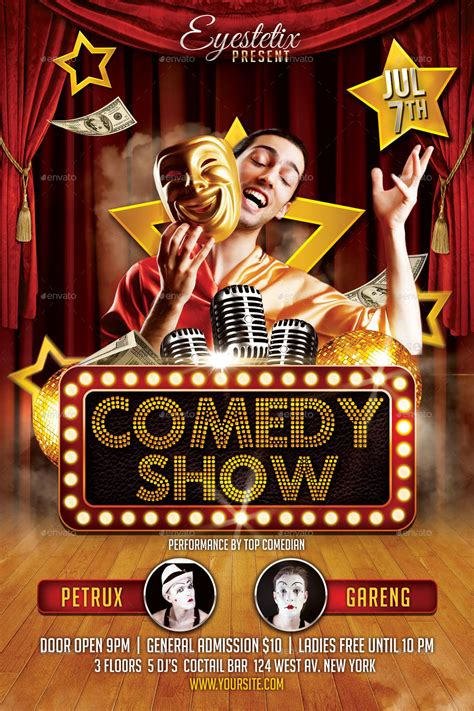 comedy show flyer by eyestetixstudio graphicriver