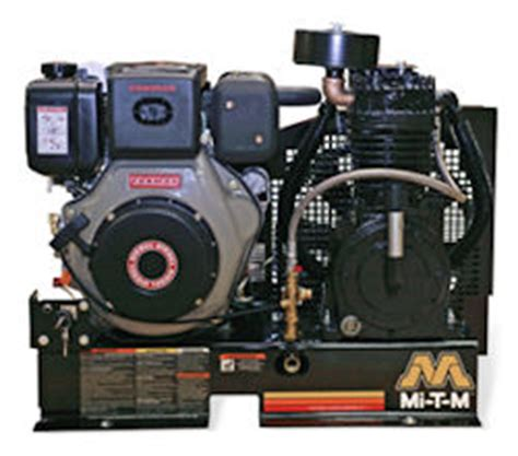gasoline diesel base mount two stage air compressors