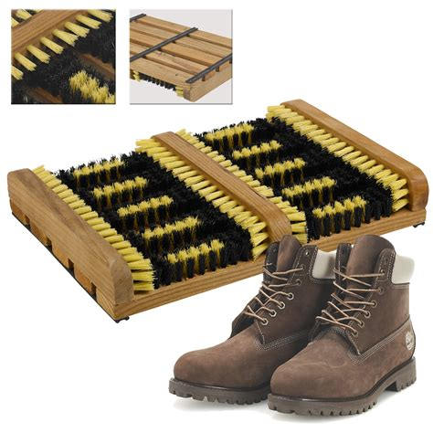 Shoe Cleaning Mat by Heavy Duty Shoe Boot Scraper Brush Outdoor Door Mat