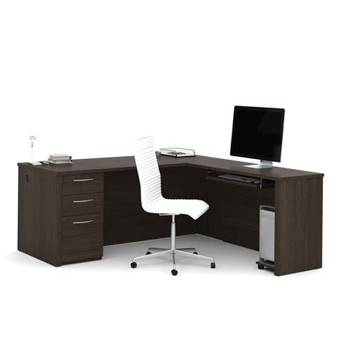nice l computer desk on bestar embassy l shape computer bestar embassy 71 quot l desk in dark chocolate 60892 79
