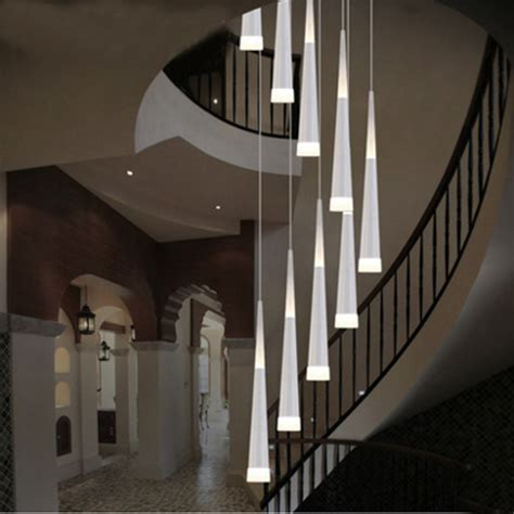 Staircase Ceiling Lighting Led Drop Lights Spiral Chandelier Indoor Staircase Lighting Modern Staircase L