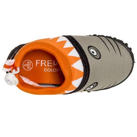 fresco kids fresko shark slip on surf swim water shoes ebay