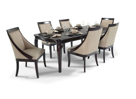 Dining Room Discount Furniture Gatsby 7 Dining Set With Swoop Chairs Dining Room Sets Bob S Discount Furniture