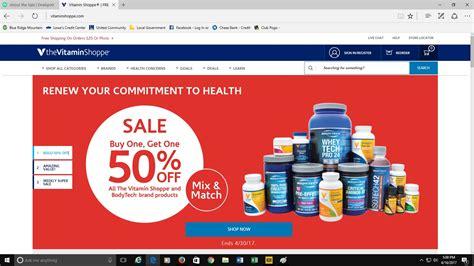 Vitamin Shoppe Gift Card - 50 off vitamin shoppe coupon code 2017 screenshot verified by dealspotr