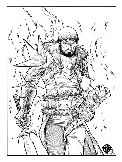 dragon age coloring page dragon age 2 hawke inks by antalas on deviantart
