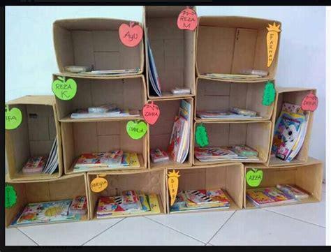 Rak Buku Dari Plastik rak buku cantik dari kardus bekas dunia belajar anak