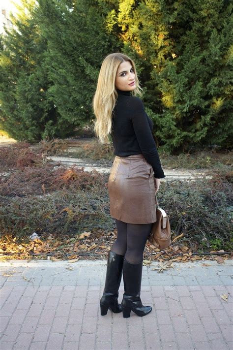 women in tight leather skirts and boots www streetstylecity blogspot com fashion inspired by the
