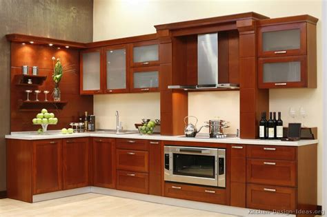 Wood Kitchen Cabinets Pictures Of Kitchens Modern Medium Wood Kitchen Cabinets