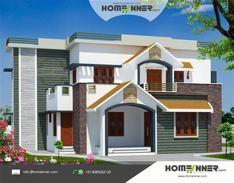 sq ft  bedroom indian house design front view