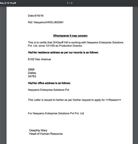 Address Proof Letter To Hr Leverage Neeyamo S Expertise In Getting The Right Successfactors Upgrades Neeyamo S Blogosphere