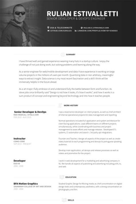 senior developer resume template senior developer resume sles visualcv resume sles database