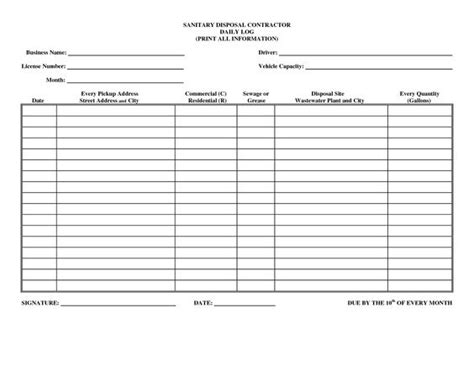 Driver Daily Log Sheet Template Business Forms Pinterest Logs Templates And Search Daily Delivery Log Template