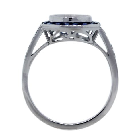 platinum sapphire and engagement ring mounting