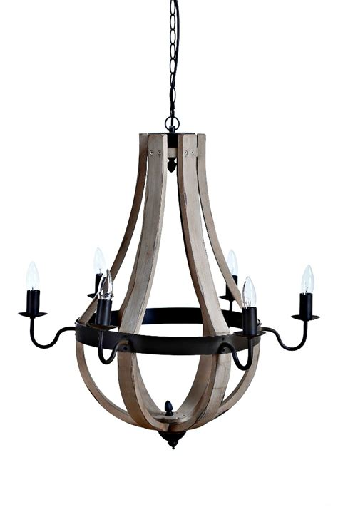 Wooden Wine Barrel Stave Chandelier How To Update Your Kitchen To Farmhouse Style New Or