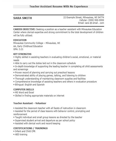 resume sles for teachers with no experience in india 26 best resumes free premium templates