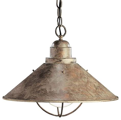 Rustic Lighting Pendants Kichler Seaside Unique Pendant Light Fixture In Olde Brick