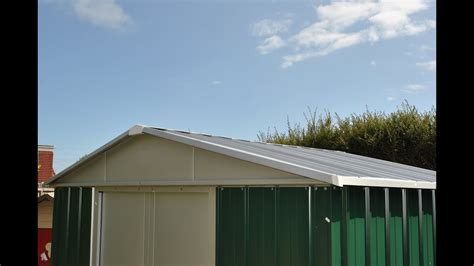 yardmaster metal shed instructions part  roof assembly