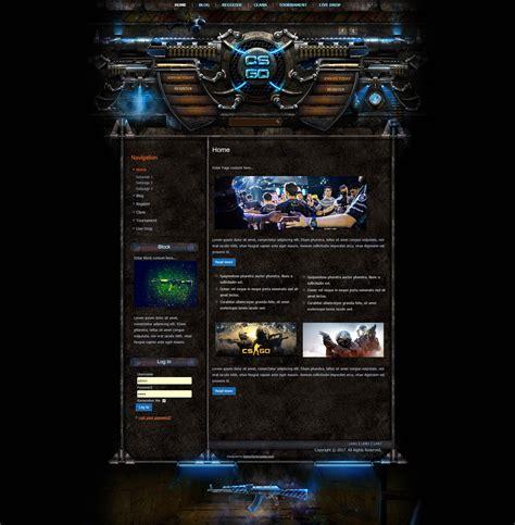 Cs Go Iron Wordpress Theme Csgo Website Template